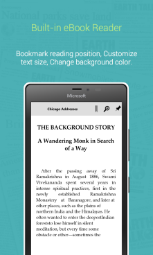 Built-in eBook Reader