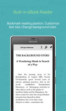 Built-in eBook Reader